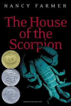 "Lexile:  660L.  The House of the Scorpion.  Nancy Farmer.  ""Matteo Alacran was not born; he was harvested with the DNA from El Patron, lord of a country called Opium.""  (GoodReads).   Recommended by Sarah Thornbery (Springboro Jr. High) and Laurie Katusin Swallen (Tuslaw HS)"