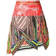 Preen By Thornton Bregazzi beaded patchwork skirt