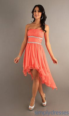 Strapless High Low Dress at SimplyDresses.com