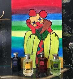 #lorenzovilloresi #nicheperfumes #perfumes #luxury #art #painting #drawing #clown #artist #artwork #design #rosinaperfumery #nicheperfumery #giannitsopoulou6 #glyfada #athens #greece 🤹🏻‍♂️🎪
