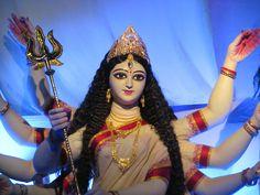 Home Coming of Maa Durga by Upasana Sharma on Maa Durga Image, Durga Kali, Kali Mata, Saraswati Goddess, Shiva Hindu, Kali Goddess, Durga Puja, Hindu Deities, Hinduism
