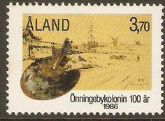 Aland Islands 1986 3m.70 Artists Colony Centenary.