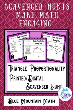 Looking for a fun, engaging activity that gets the kids moving and talking about math? In this resource, students practice finding the measures of sides of triangles and you can choose between a printed activity or digital (self-grading) activity. All of the problems are numeric. The printed activity works great in the classroom while the digital activity can be used for distance learning or absent students. Or use them both!