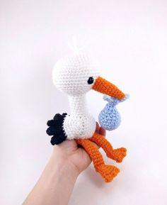 Solly The Stork Amigurumi Pattern