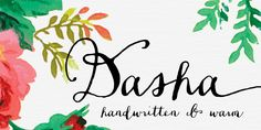 Fonts - Dasha by Magpie Paper Works - HypeForType Font Shop Fancy Fonts, Cool Fonts, New Fonts, Graphic Design Fonts, Lettering Design, Hand Lettering, Calligraphy Fonts, Typography Letters, Vintage Typography