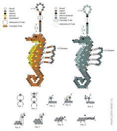beaded sea horse scheme | Julia Lyndina. The scheme of the seahorse