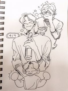 Art Drawings Sketches, Cute Drawings, Illustrations, Illustration Art, Exo Fan Art, Arte Sketchbook, Art Reference Poses, Anime Sketch, Aesthetic Art
