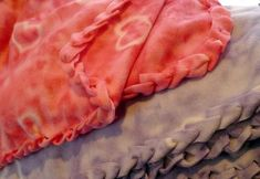 """Single Layer No-Sew """"Braided"""" Fleece Blankets Tutorial....was a little more time consuming than originally thought it would take me, but love the smooth edges! Prefer this style over original tie edges"""
