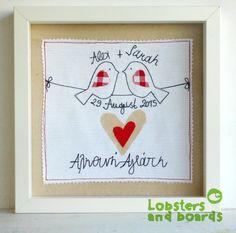 Wedding handmade personalised box frame