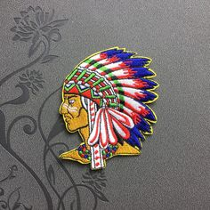 Indiana Patch Vintage Patch Full Embroidered Iron On Patches sew on patches Punk patches
