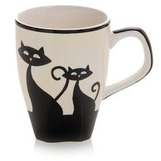 Cattitude Mugs (4), I love these cats. Looks the ones in Lady and the Tramp..