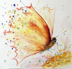 Watercolour paintings – Butterfly Original watercolor painting – a unique product by Radikacolours on DaWanda