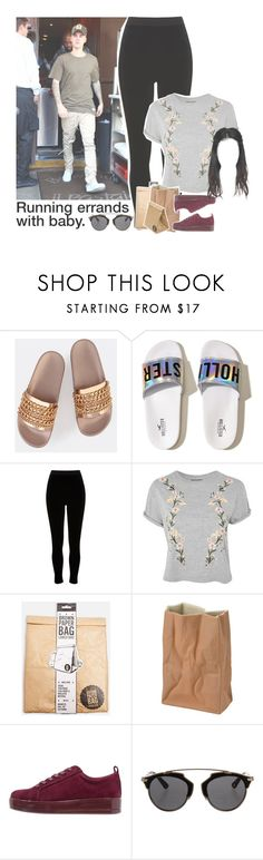 """Sin título #1742"" by roxanaaylen ❤ liked on Polyvore featuring Hollister Co., Justin Bieber, River Island, Topshop, Rosenthal, Christian Dior and Luckies"