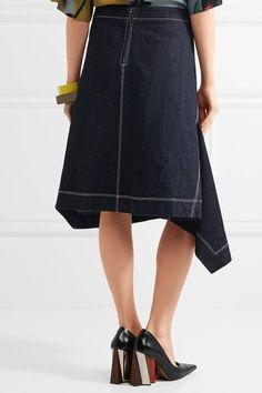 Marni - Asymmetric Denim Skirt - Blue - IT44