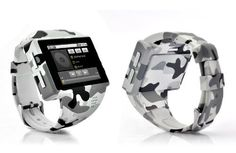 """Buy from CADI DISTRIBUTION - Android Phone Watch """"Rock"""" - 2 Inch Capacitive Screen, 8GB Micro SD, 2MP Camera (ACU Camouflage) by Cadi Distribution, http://www.amazon.com/dp/B009ECA7XA/ref=cm_sw_r_pi_dp_XN8Urb1931JM3"""