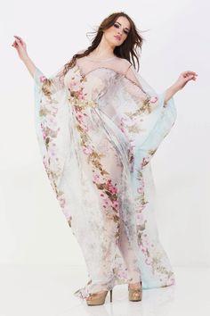silk caftan #caftan #silk #print #fashion #my #designs #for #woodstock