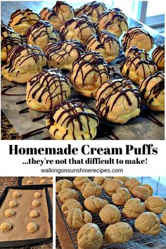 Homemade Cream Puffs are not that difficult to make! Step-by-step photo instructions show you how to make this very impressive dessert for your family from Walking on Sunshine Recipes. #creampuffs #creampuffrecipe #desserts #dessertfoodrecipes #dessertrecipes