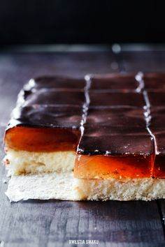 Jaffa cake slice - pity I don't b know which Eastern European language it's in for a translation