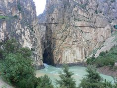 El Camino del Rey, El Chorro, Spain - so intimidating; the concrete is unstable, and it is almost 300 ft above the water