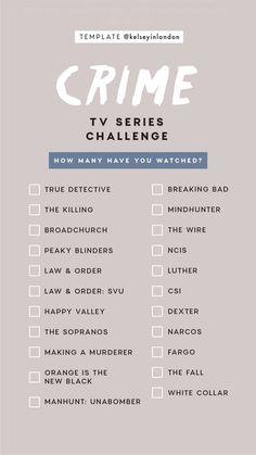 Crime TV Series Instagram Story Template by @kelseyinlondon #InstaStory #StoryTemp #InstagramStory #InstagramTemplate #Instagram #InstagramStoryTemplate #Crime #CrimeTV #TVSeries #Challenge #Checklist