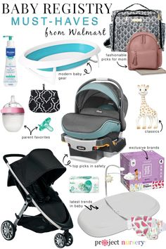 Get A Truly Personalized Baby Registry from Walmart where you can find top nursery trends, top of the line baby gear and all the baby basics you need for your registry. Baby Registry Essentials, Best Baby Registry, Baby Registry Items, Baby Registry Must Haves, Baby Registry Checklist, Target Baby, Amazon Baby, Personalized Baby, Baby Wearing