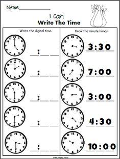Blank analogue and digital clock times worksheets (SB9593 ...