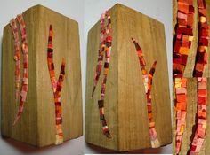 Bloc Wooden Stump Colorful Art Stumps as art furniture or sculptures