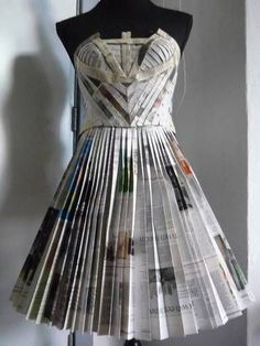mans suit made of newspaper - Google Search