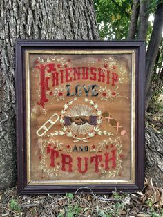 Odd Fellows embroidery. I need this in my life!
