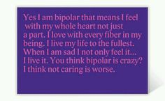 MY FAVORITE BIPOLAR TRAIT OF THEM ALL!!!! <3   I LOVE ME!