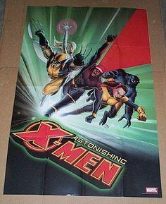 36 x 24 Marvel Comics Astonishing X-Men promo poster: Wolverine/Cyclops/3 x 2 ft