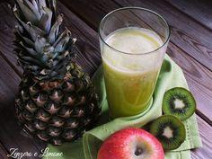 Succo+all'ananas+con+mela+e+kiwi