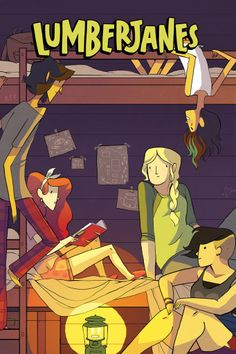 Lumberjanes is a comic about girls fighting supernatural creatures at summer camp. Noelle Stevenson, Grace Ellis, and other awesome artists write and draw the series. Yes, it is as awesome as it sounds!