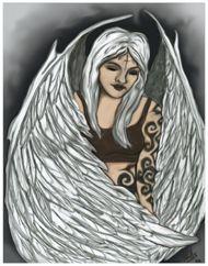 Angel  original painting 2002  by Suzanne Hills VanBrunt