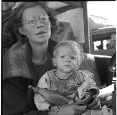Mother and baby on the road, Siskiyou CA 1939; Library of Congress FSA/OWI photograph collection