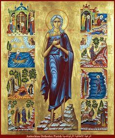 Orthodox Christian Education: St Mary Egypt Craft - Turn Life Around Santa Maria, Byzantine Icons, Byzantine Art, St Mary Of Egypt, Egypt Crafts, Religious Images, Orthodox Christianity, Orthodox Icons, Mother Mary