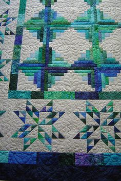 ♥ Jessica's Quilting Studio Star Log Cabin | Flickr - Photo Sharing!