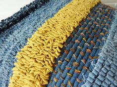 Julia K Walton--Rag Rug Cushion - Detail