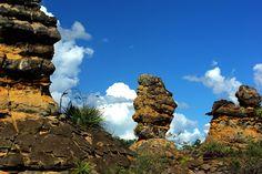 As curiosas formações rochosas do Parque Nacional de Sete Cidades. Foto: Otávio Nogueira
