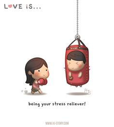 "Check out the comic ""HJ-Story :: Love is... Stress Reliever"" http://tapastic.com/episode/122217"