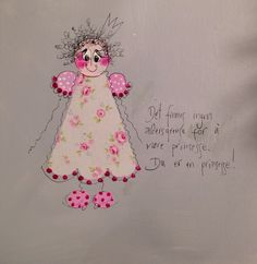 Prinsesse Colorful Paintings, Art Girl, Lamb, English, Humor, Words, School, Tips, Quotes