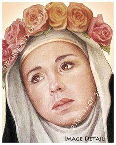 Sainte-Rose de Lima Art Print catholique par PortraitsofSaints