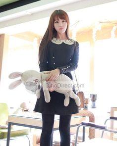 Round Collar Long Sleeve Women Dresses-------slim women dress