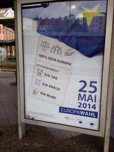 100% Dein Europa. Pflegehinweis: ein Tag, ein Kreuz, ein Wurf | My EU social media playground