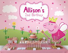 Fairy Peppa Pig Personalised Printable Backdrop by envyanvi