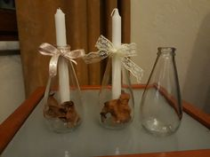 Candle holder from soda bottle, Wedding Hall Decorations, Soda Bottles, Interior And Exterior, Home Accessories, Candle Holders, Paper Crafts, Old Things, Bottle Bottle, Ih