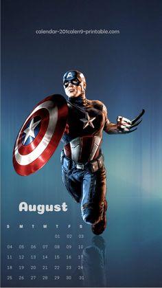 august 2019 mobile calendar wallpaper
