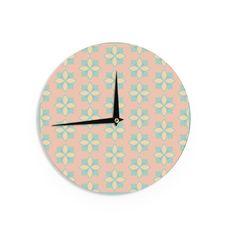 Kess InHouse Deepti Munshaw 'Pattern #1' Beige Wall Clock