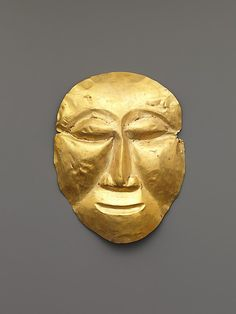Mask    Period:      Central Javanese period  Date:      8th–early 9th century  Culture:      Indonesia (Java)  Medium:      Gold  Dimensions:      H. 6 in. (15.2 cm); W. 4 5/8 in. (11.7 cm)  Classification:      Metalwork