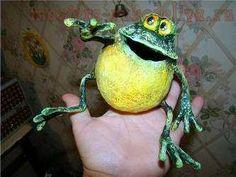 Мастер-класс по папье-маше: Лягушонок Позитивчик
